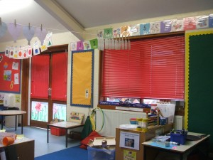 Venetian blinds in Sebert Wood Primary School
