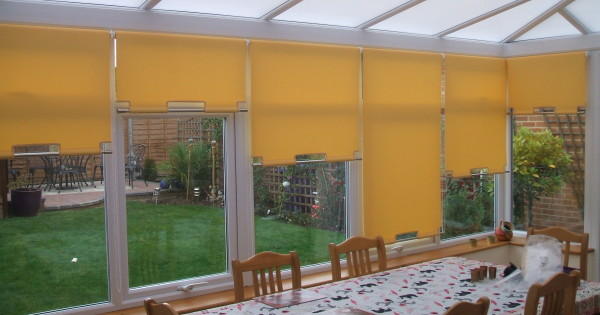 Roller Blinds In Conservatory Amp Shaped Bottoms With Chrome