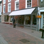 Shop awning for Paul Stephens in Bury St Edmunds