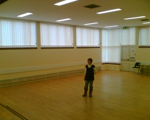Sue Norman in the main hall at Chalkstone Community Centre in Haverhill, Suffolk.