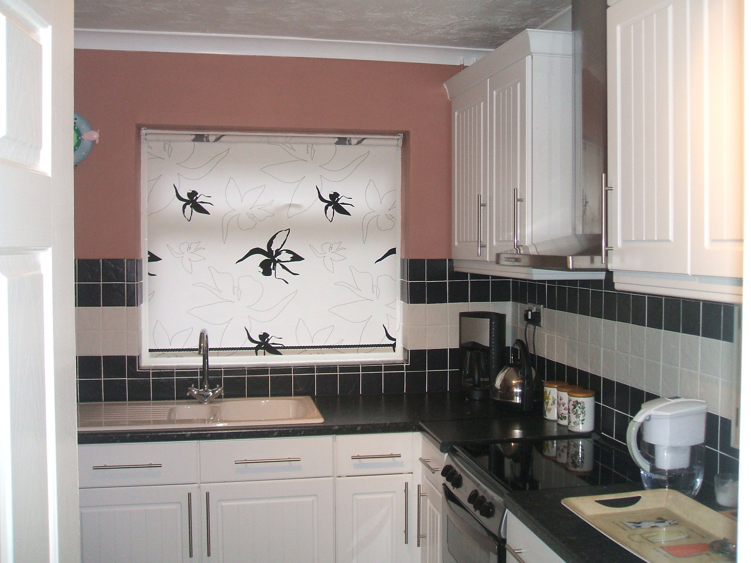 Roller Blinds For Kitchens Similiar Black And White Kitchen Window Shades Keywords