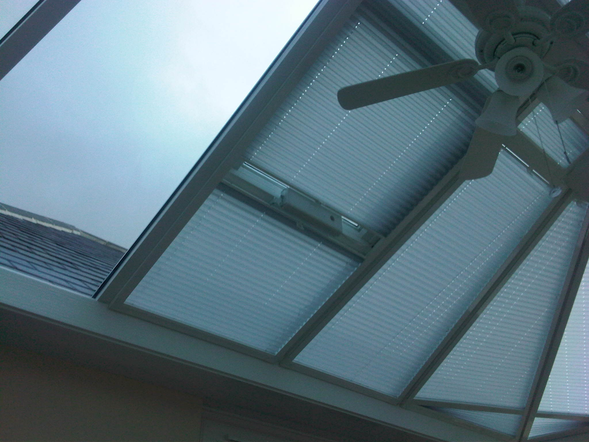 Pleated Roofblinds On Conservatory Roof Vents Baileys Blinds